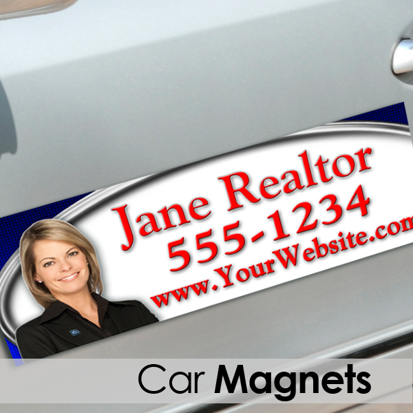 real estate car magnets