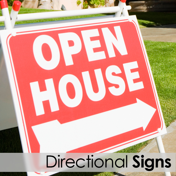 real estate directional signs