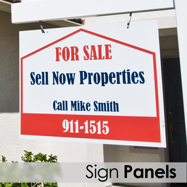 real estate sign panel